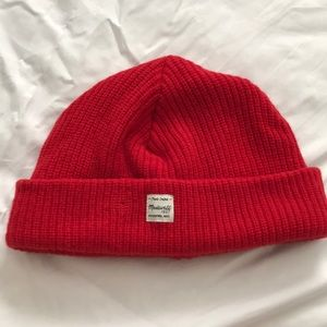 Madewell red beanie